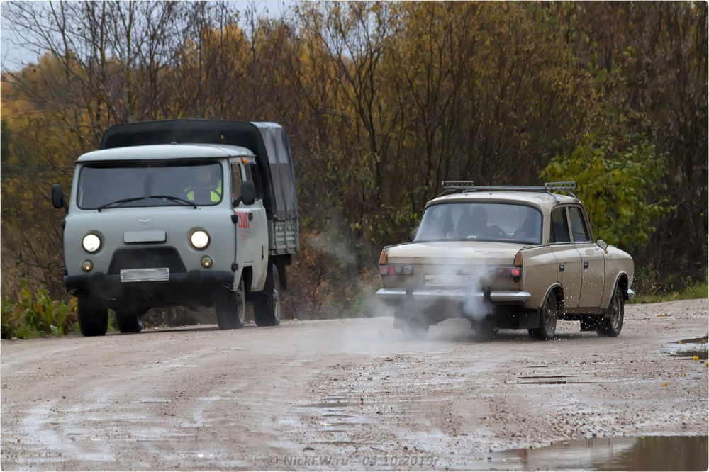 4. Встречная машина в Барыгино - © NickFW.ru - 04.10.2019г.