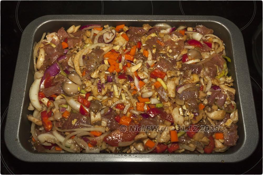 8. Индейка с овощами и картошкой на гарнир © NickFW.ru - 31.12.2019г.