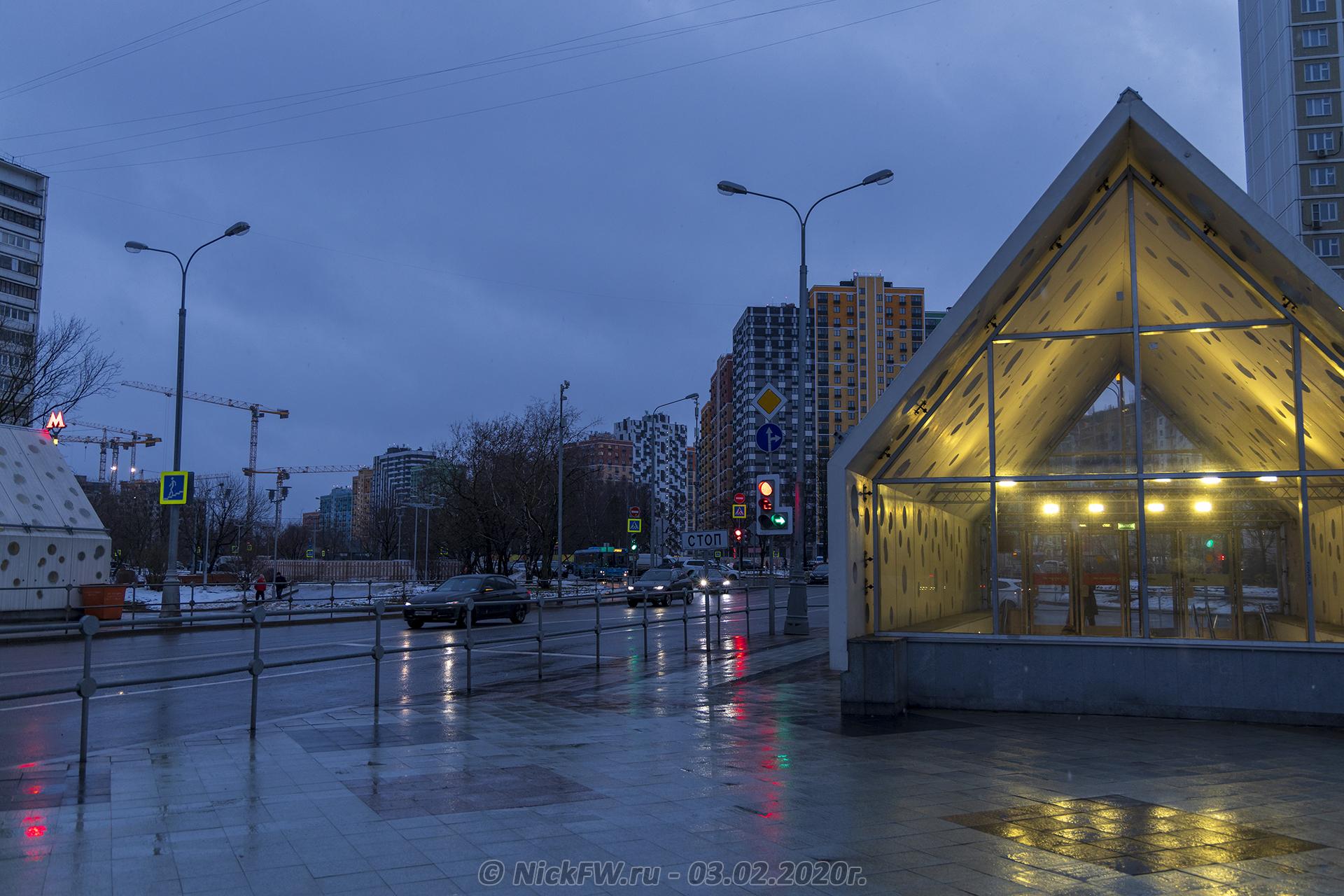 2. Вид на ЖК Лучи от станции метро Солнцево © NickFW.ru - 03.02.2020г.