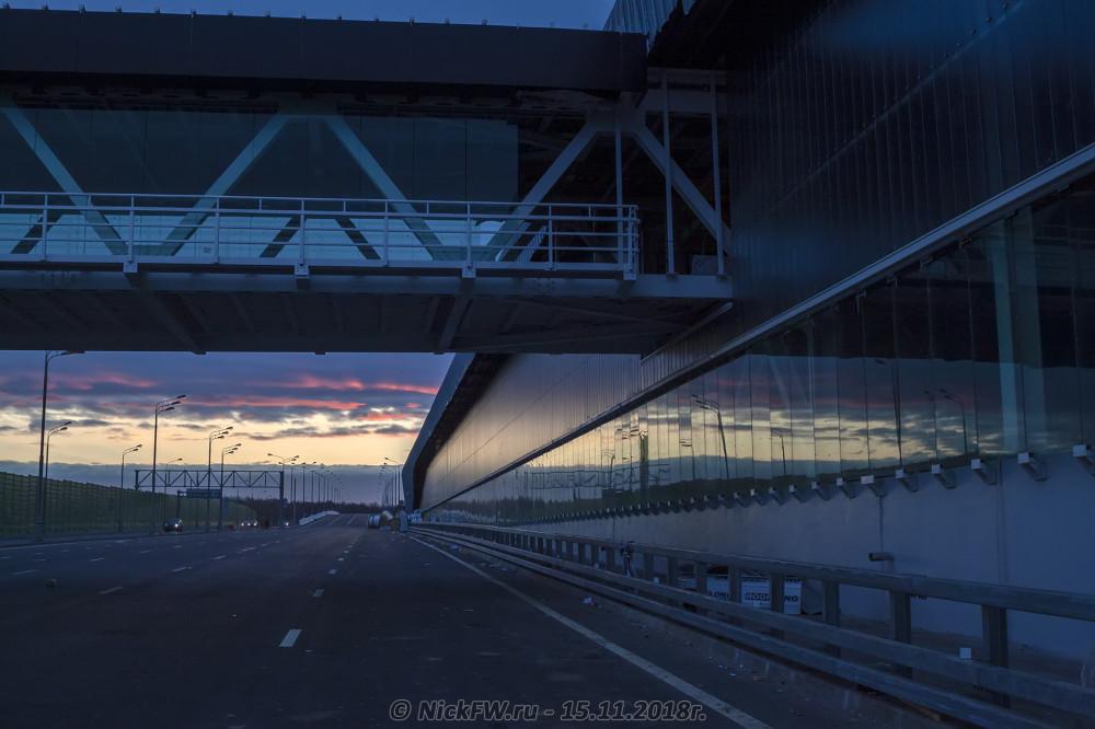 1. Рассвет у станции «Прокшино» © NickFW.ru - 15.11.2018г.