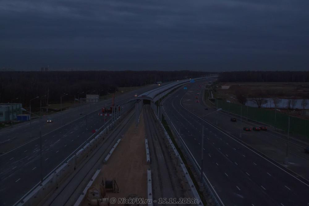4. Вид на строительство наземного тоннеля в сторону станции «Филатов луг» © NickFW.ru - 15.11.2018г.