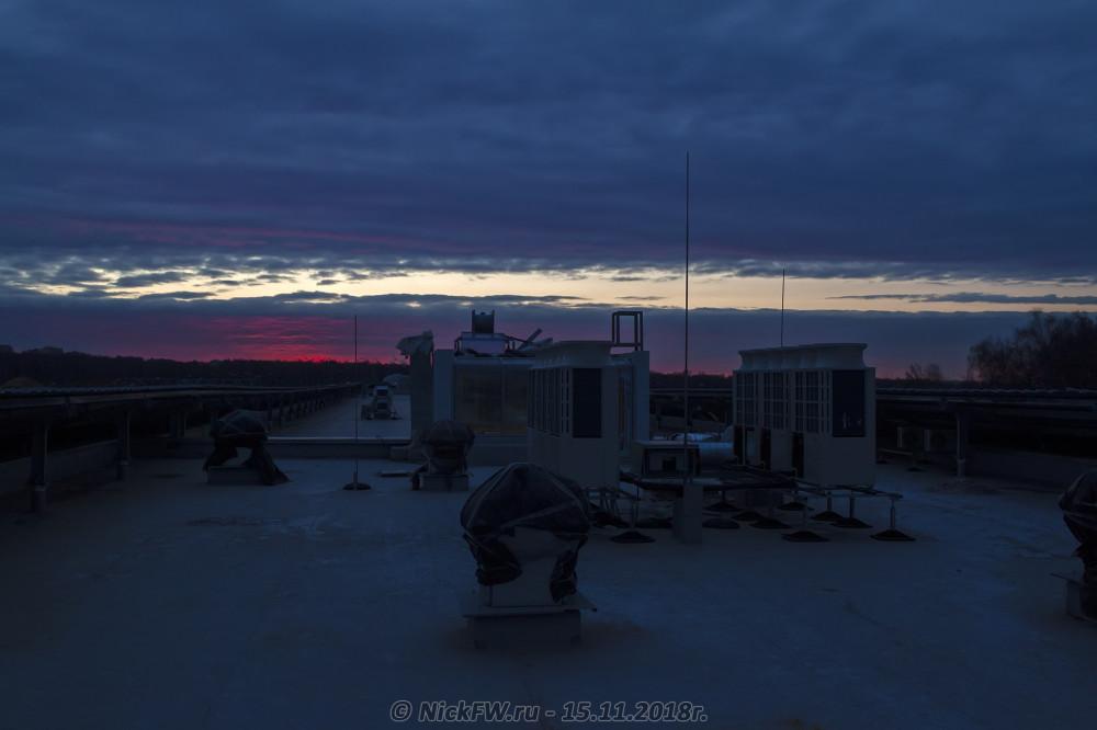 3. Рассвет у станции «Прокшино» © NickFW.ru - 15.11.2018г.