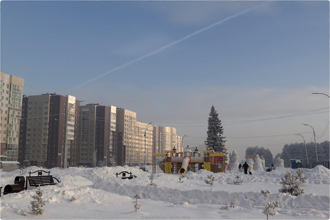 Ледовый городок и Ёлка в парке Дружбы народов [© NickFW - 04.01.2018]