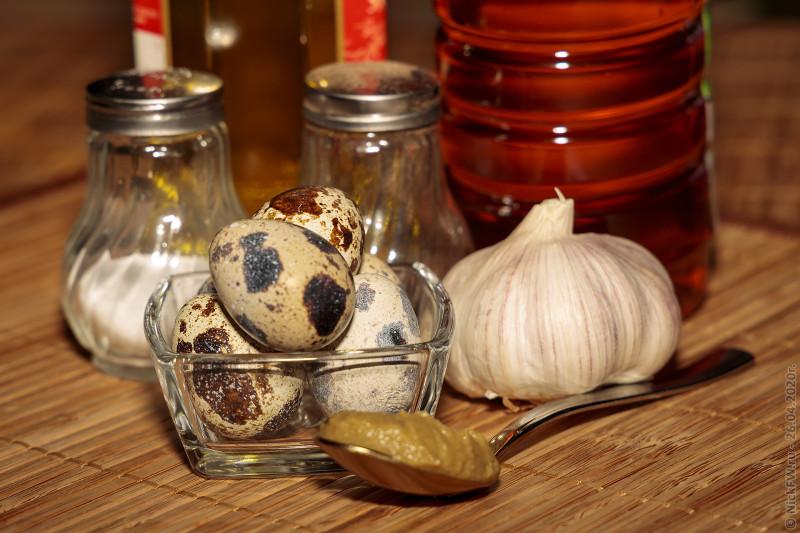 2. Домашний оливковый майонез на перепелиных яйцах - ингредиенты © NickFW.ru - 26.04.2020г.
