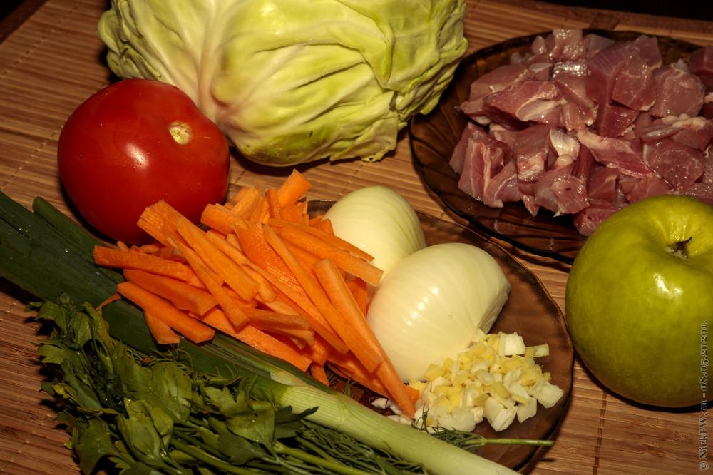 2. Бигос с индейкой и картошкой - основные ингредиенты © NickFW. ru - 08.05.2020г.