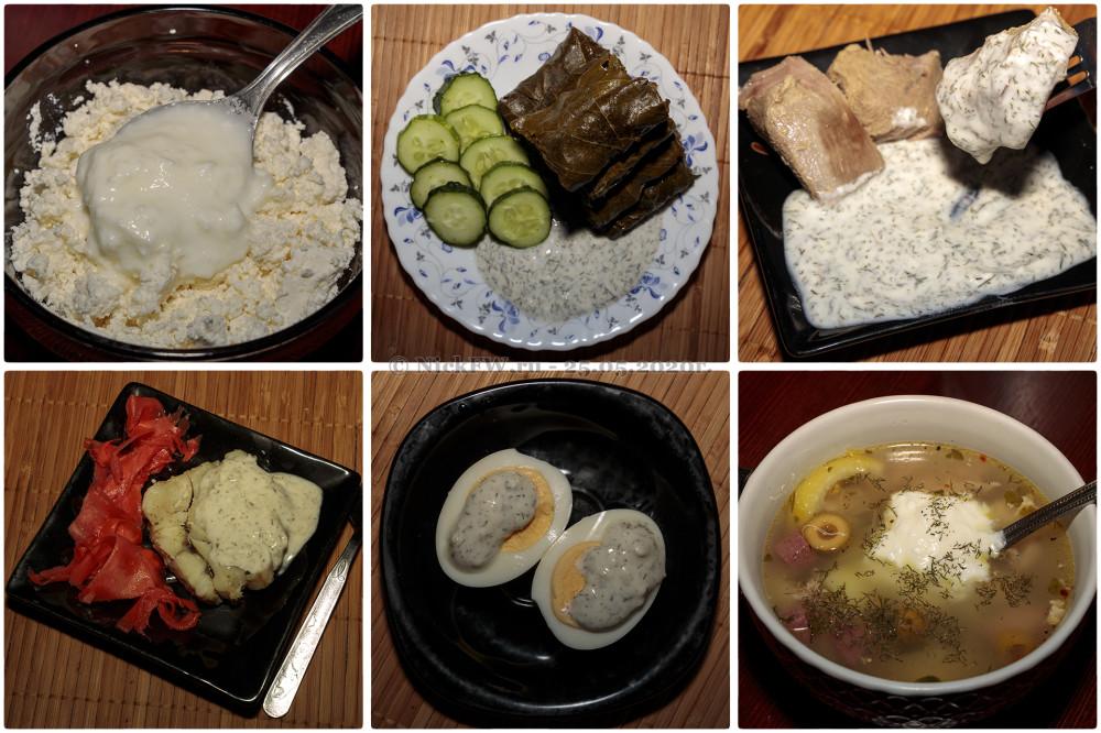 6. Коллаж из различных блюд с Мацони и соусом на его основе © NickFW.ru - 25.05.2020г.