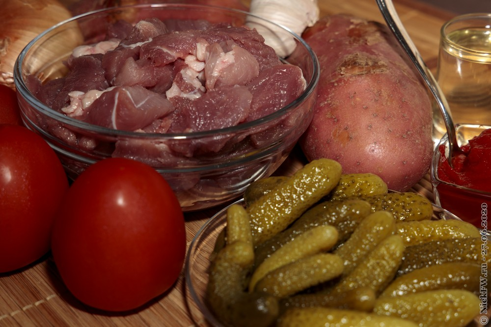 3. Азу по-татарски - ингредиенты © NickFW.ru - 27.06.2020г.