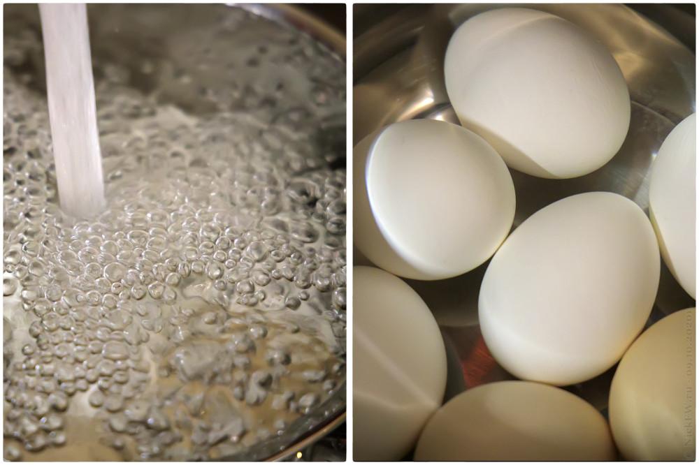 3. Яйцо варёное в крутую - охлаждение © NickFW.ru - 09.10.2020г.