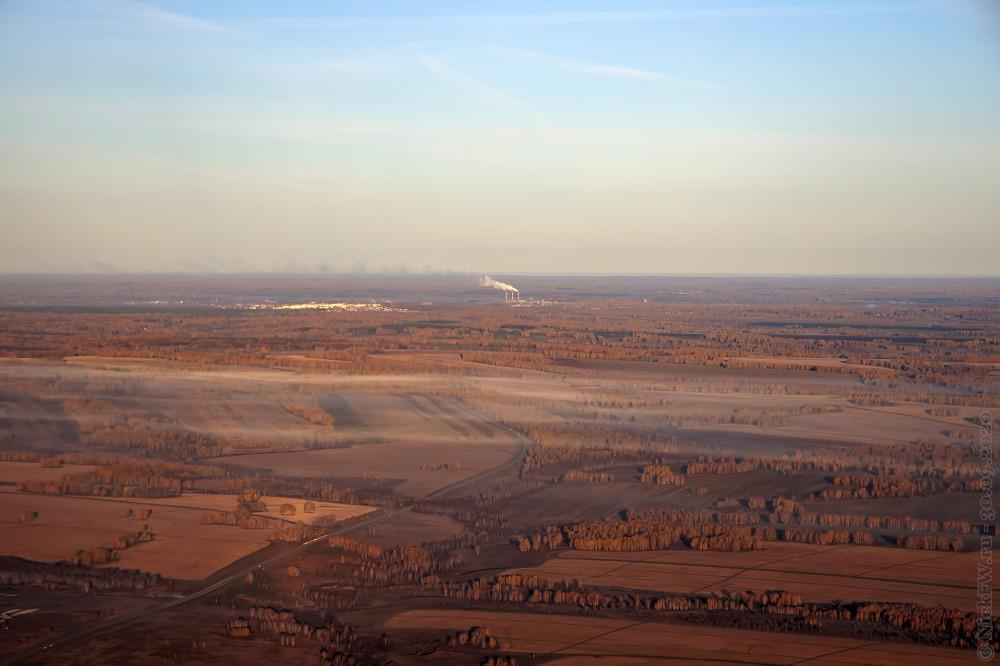 7. Вид на Кемеровскую область из иллюминатора © NickFW.ru - 30.10.2020г.