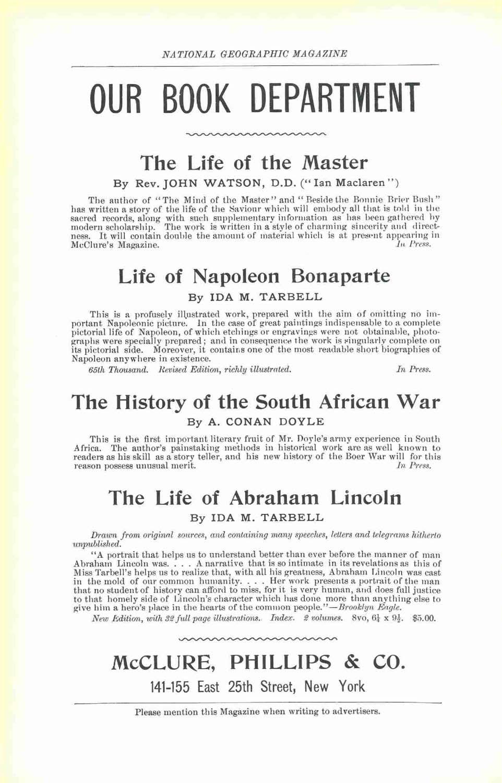 National Geographic 1900  ноябрь - реклама