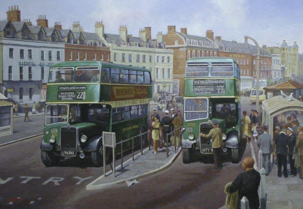 transport-art-bristol-national-western-weymouth-painting