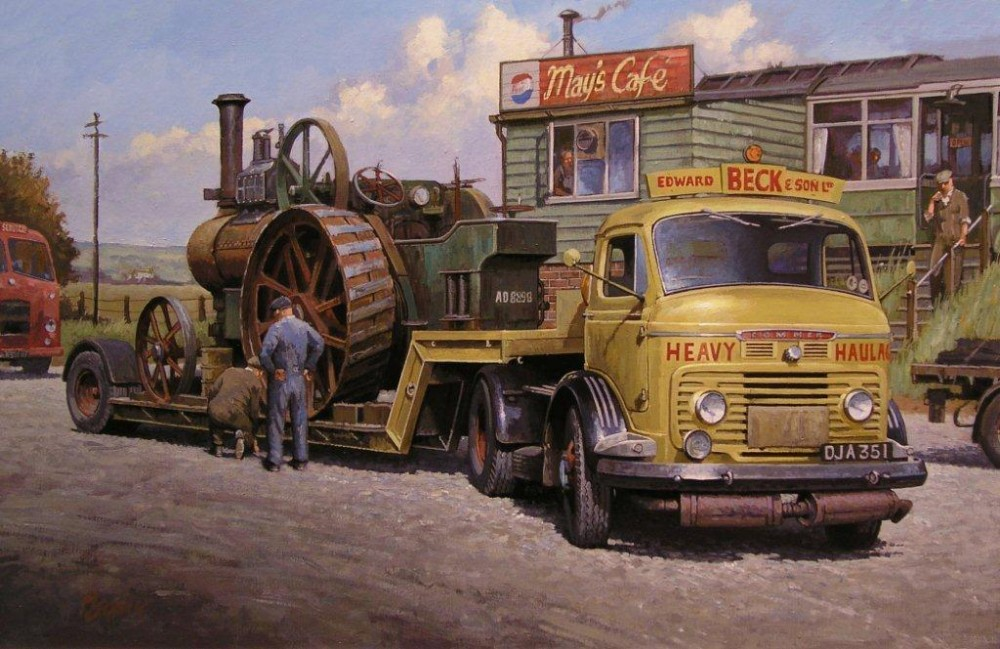 transport-art-commer-at-mays-cafe-painting