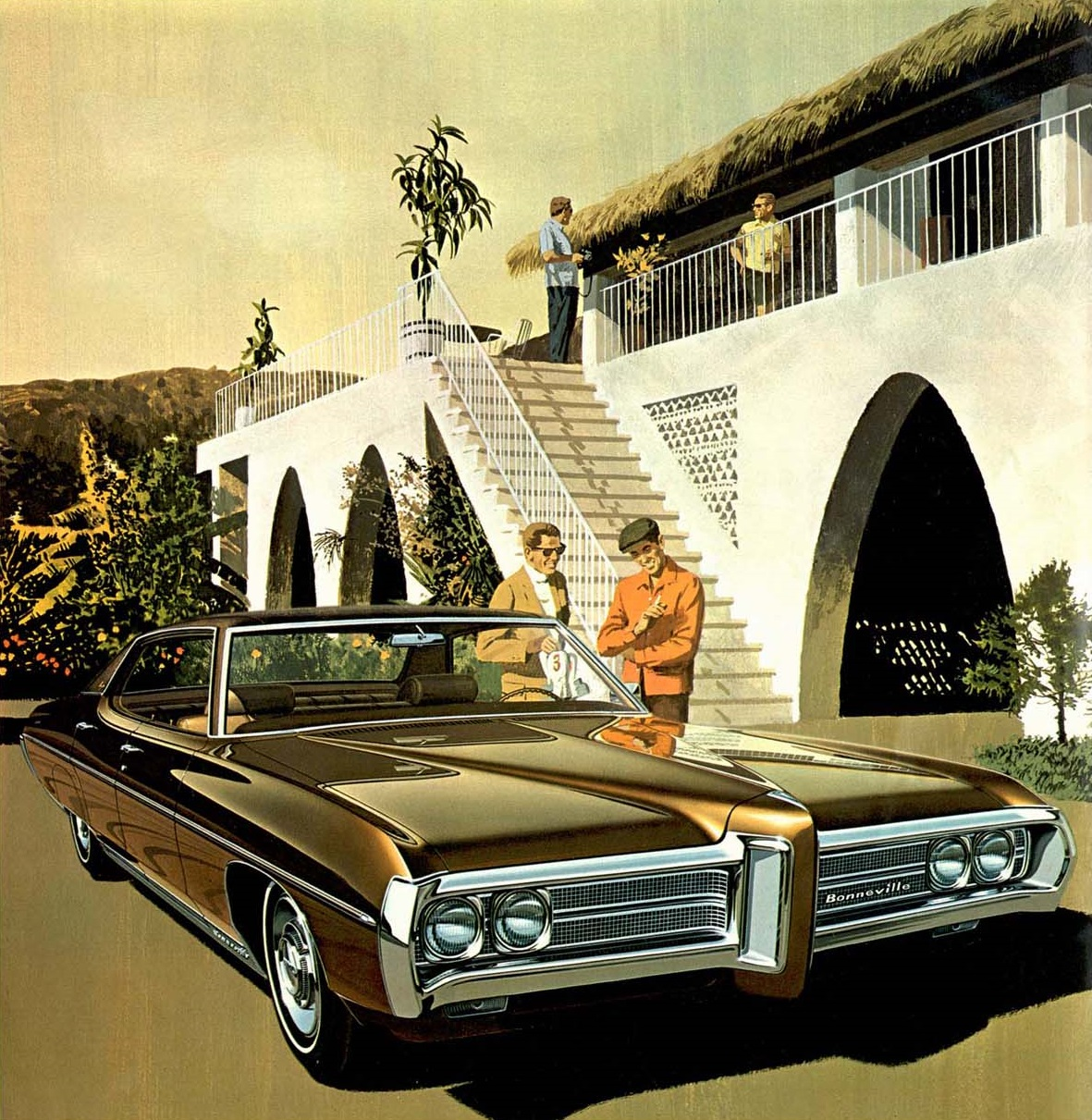 1969 Bonneville Brougham 4-door Coupe