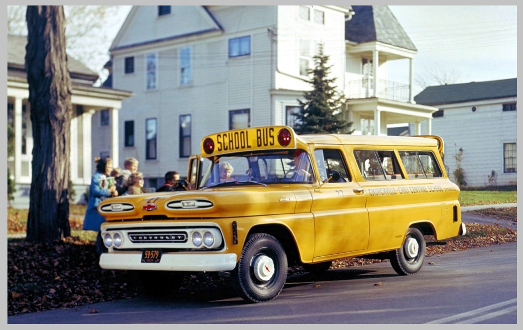 Chevrolet Suburban School Bus 1959