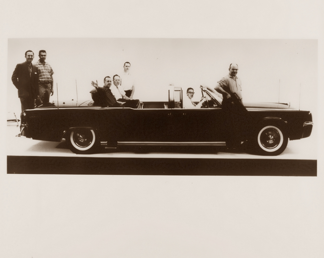 Lincoln Continental Presidential Limousine with Hess & Eisenhardt Shop Crew, 1961
