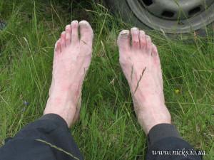 Gorgany race 2012, мої ноги на фініші
