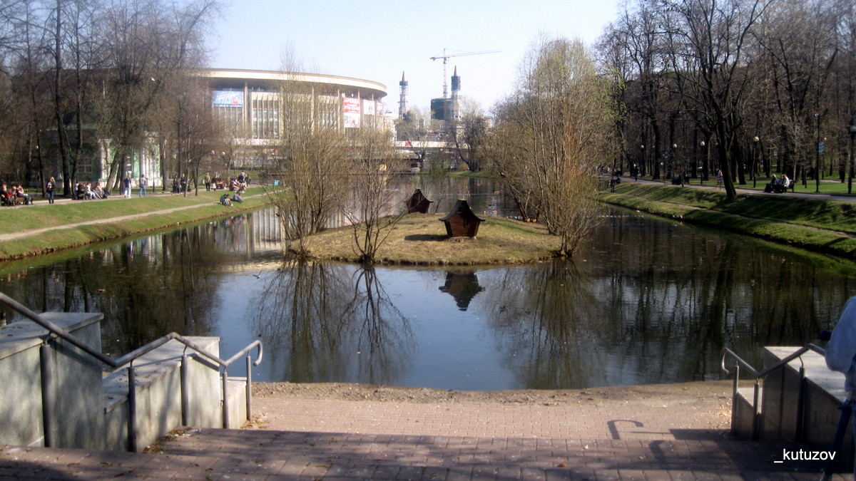 Парк-пруд-пейзаж