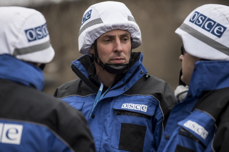 Сотрудники ОБСЕ OSCE Special Monitoring Mission to Ukraine