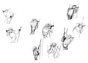 Action sketches for Chikusai