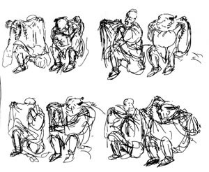Storyboard of the meeting of Basho and Chikusai