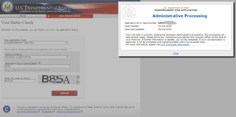 visa status