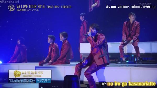 [sub-kara] Koko Kara cut - 151205 V6 LIVE TOUR 2015 WOWOW ...