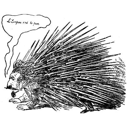 Карикатура на Наполеона III
