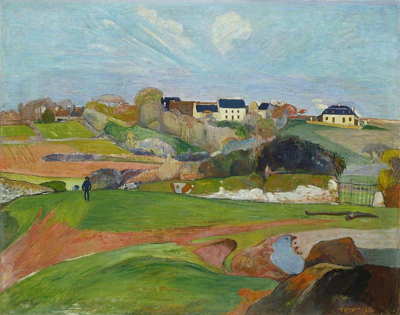 Пейзаж в Ле Пульдю  Поль Гоген  1890 год