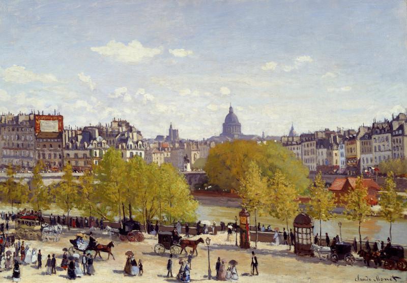 Пристань Лувра. Париж  Клод Моне  1867 год