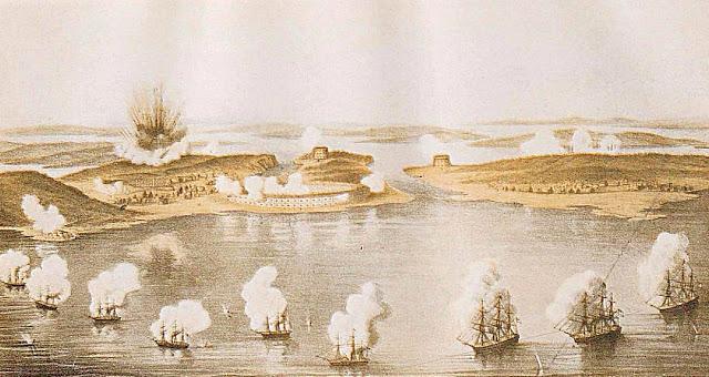 Бомбардировка Бомарсунда англо-французской эскадрой