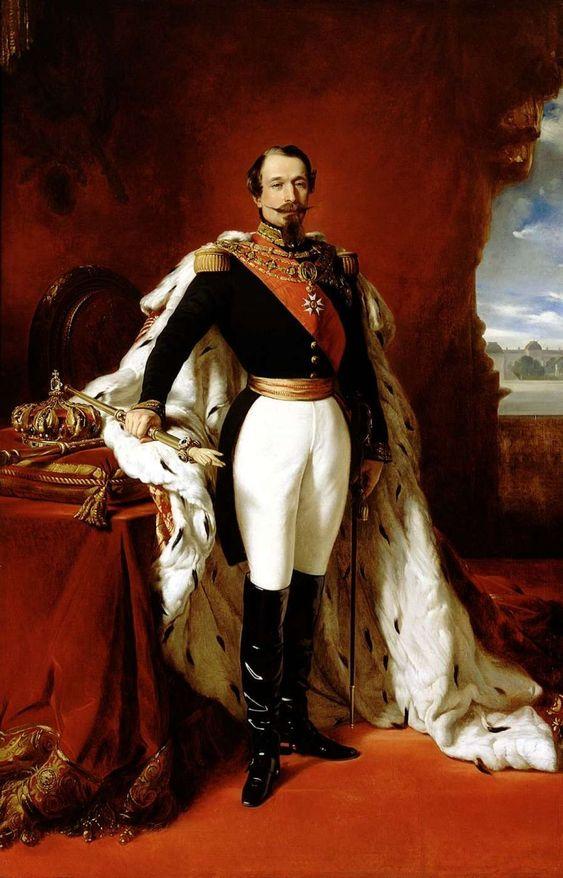 Император Франции Наполеон III  придворный портретист Франц Ксавер Винтерхальтер 1855 год