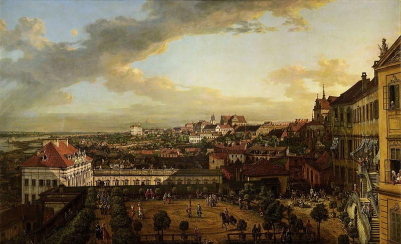 Вид Варшавы с террасы Королевского замка  Бернардо Беллотто
