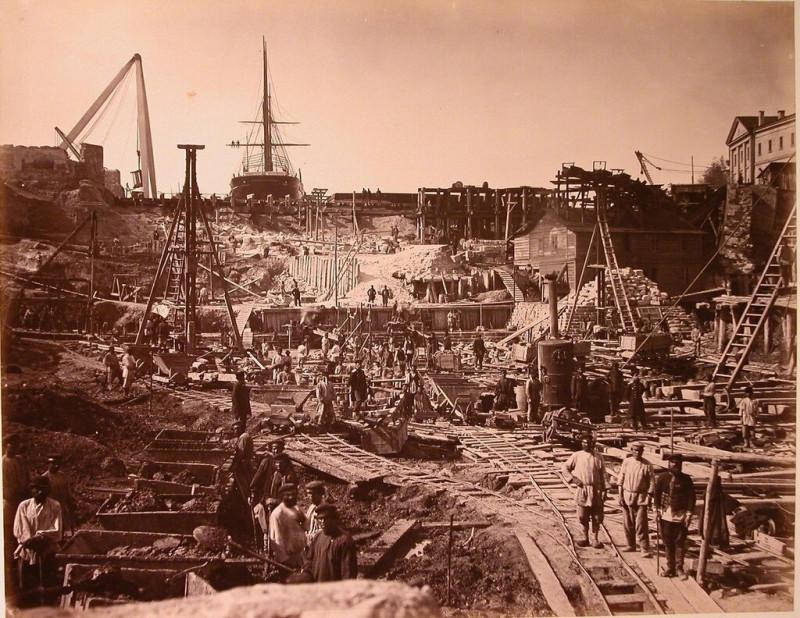 Строительство сухого дока в Севастополе на Корабельной стороне