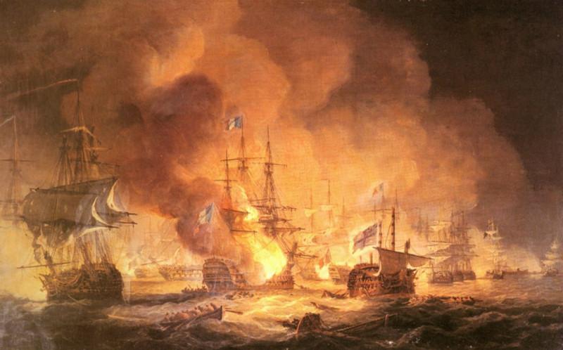 """""""Битва у Нила 1 августа 1798 года в 10 часов вечера""""  Томас Луни"""