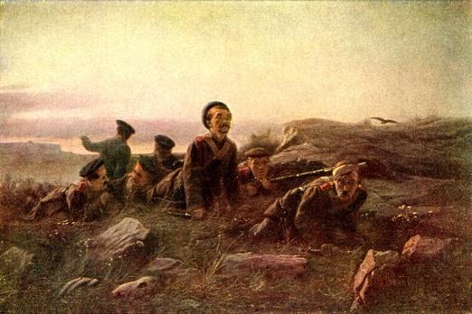 Пластуны под Севастополем  Василий Перов 1874.