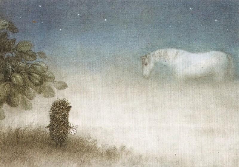 Довольная лошадь и крот