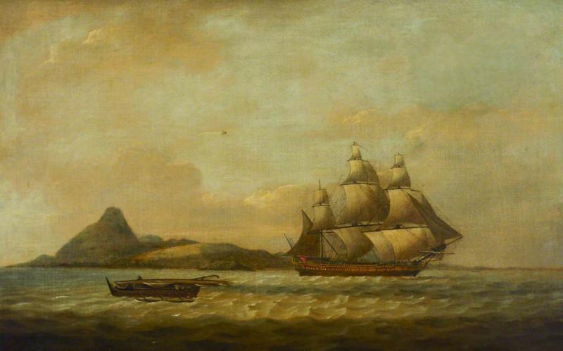 "Корабль ""Индостан"" картина Томаса Луни"