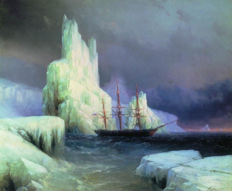Ледяные горы в Антарктиде  Айвазовский И.К. 1870г.
