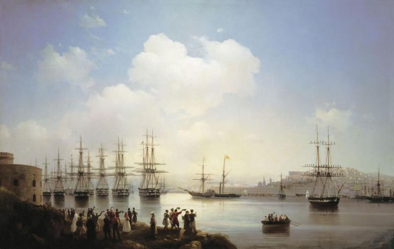 Русская эскадра на Севастопольском рейде Айвазовский И.К. 1846г.