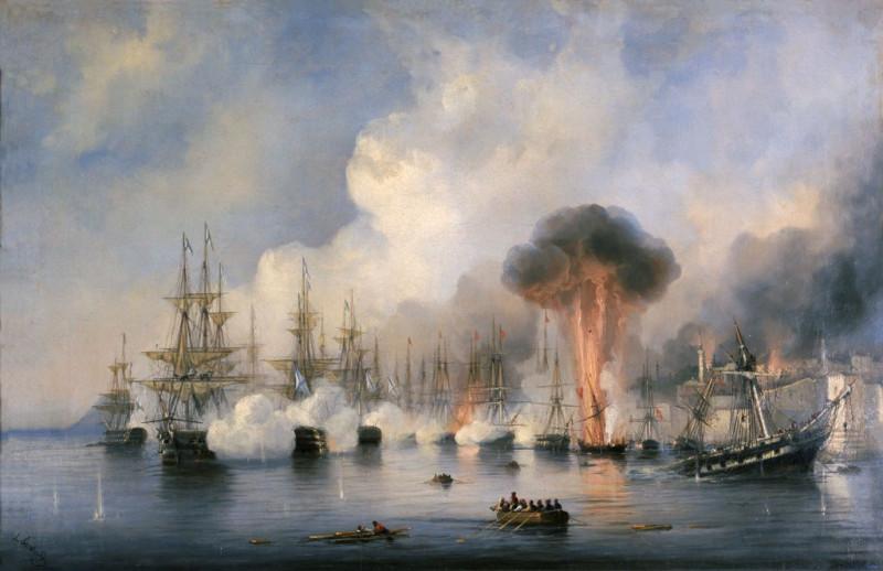 Синопский бой  Боголюбов А.П.  1860г.