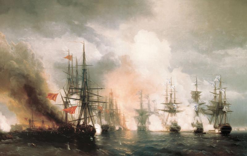 Синопский бой  Айвазовский И.К.  1853г.