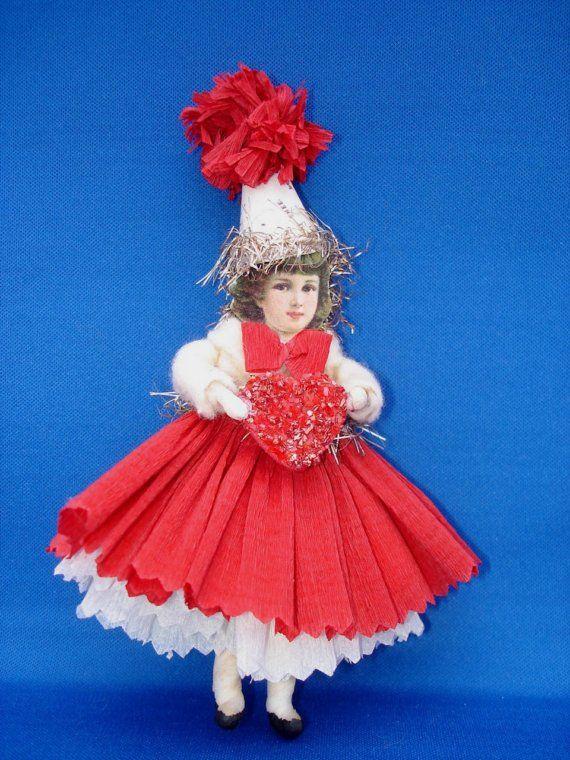 девочка в красной юбке