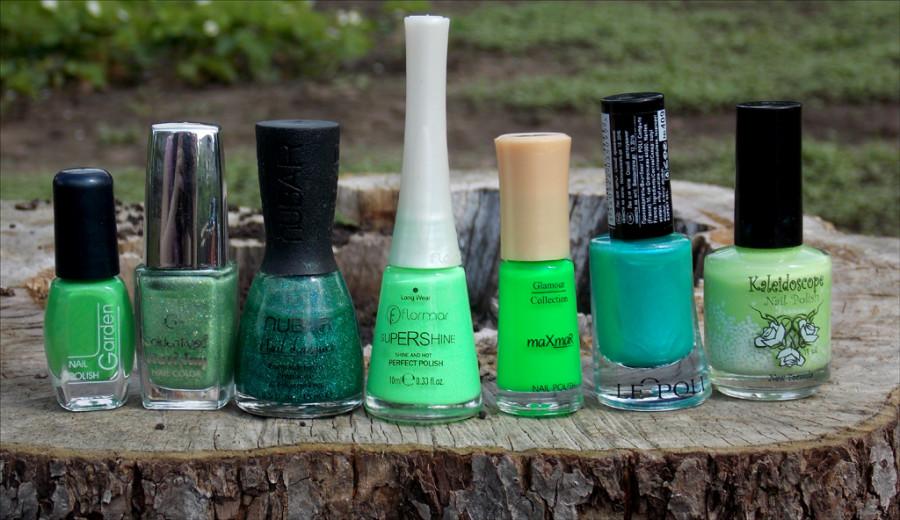 зелёные