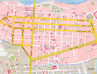 Карта центральной части города Николаева