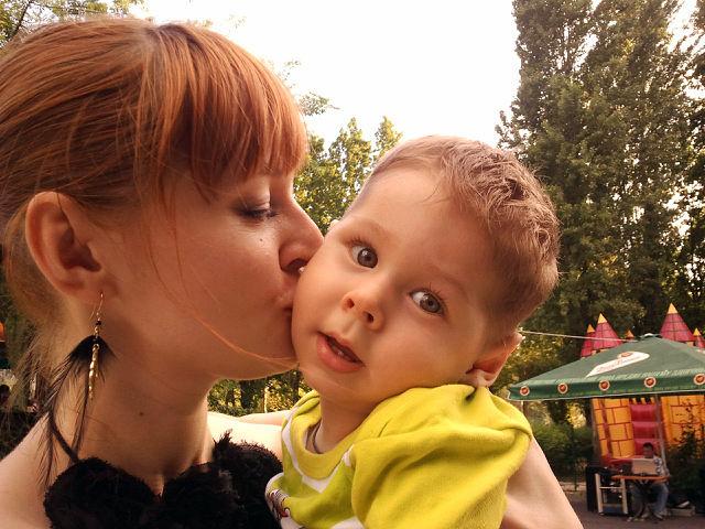 Богдан с мамочкой