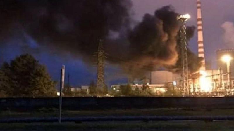 Пожар на украинской атомной электростанции