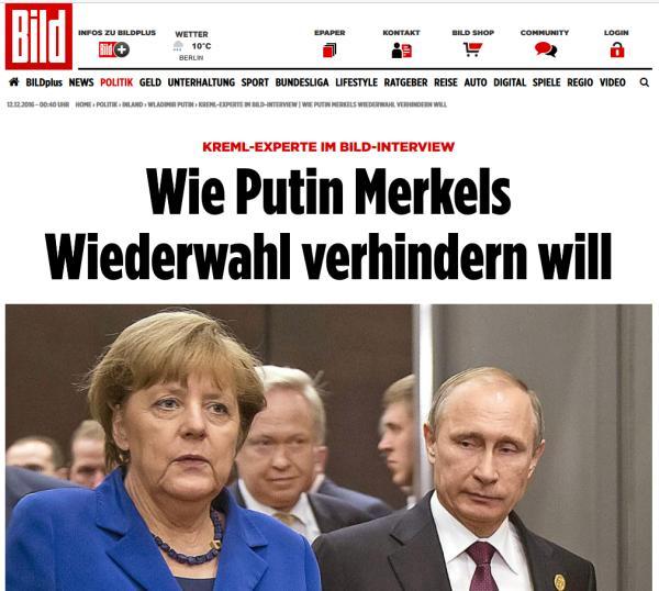 Как Путин хочет не допустить переизбрания Меркель
