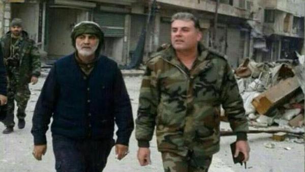 Сулеймани в Алеппо