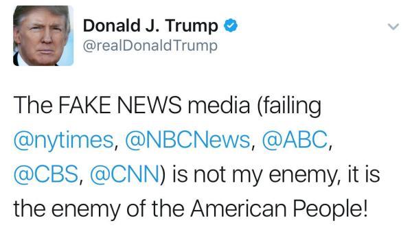 Трамп заговорил о врагах народа