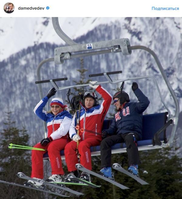 Неплохо на лыжах покатался Димон